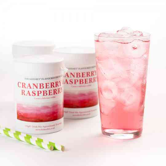 KeeDiet Cranberry & Raspberry Ketogenic Water Flavouring Tub Diet Food