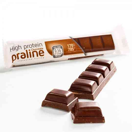 KeeDiet High Protein, Low Carb Chocolate Praline Bar Diet Food