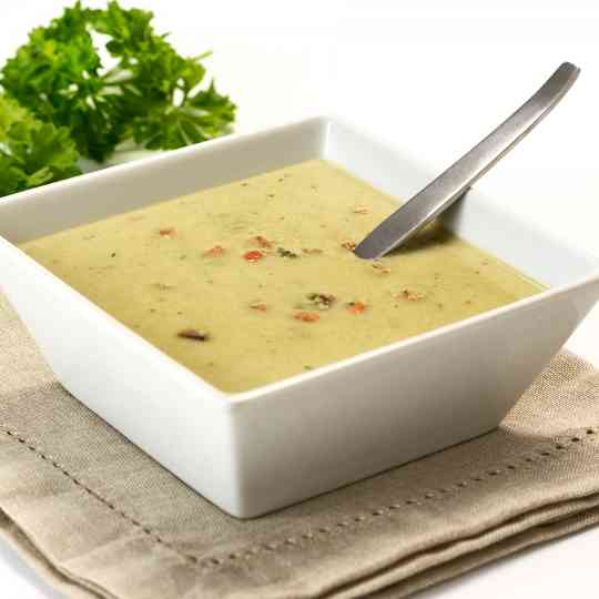 High Protein, Low Carb creamy Vegetable Soup Diet Food