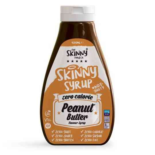Peanut Butter Flavour Syrup - Virtually Calorie Sugar Free - Skinny Food Co