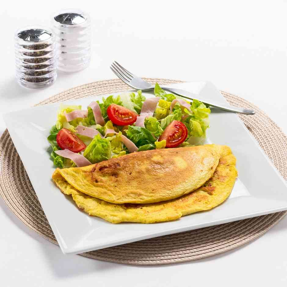 Keediet High Protein, Low Carb Cheese & Bacon Omelette Diet Food