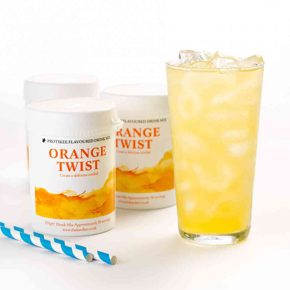 KeeDiet Orange Twist Ketogenic Water Flavouring Tub Diet Food
